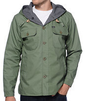 Brixton Verso Charcoal & Green Reversible Jacket