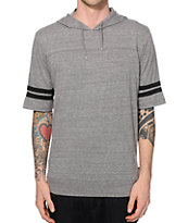 Brixton Voyager Grey Hooded T-Shirt