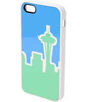 Buckle Down Seattle Skyline Green & Blue iPhone 5 Case