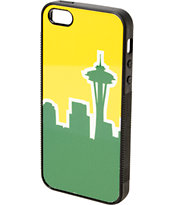 Buckle Down Seattle Skyline Yellow & Green iPhone 5 Case