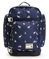 Burton Canyon Navy Blue Outdoor Print Laptop Backpack