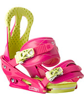 Burton Citizen Pink Pizzaz 2014 Girls Snowboard Bindings