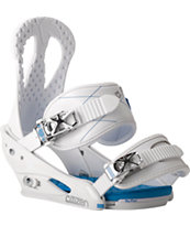 Burton Citizen White 2014 Women's Snowboard Bindings