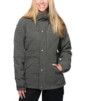 Burton Eden Charcoal Quilted 10K Girls Snowboard Jacket 2014