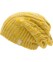 Burton Girls Bone Cobra Grey & Yellow Reversible Beanie