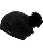 Burton Girls Katie Joe Black Pom Beanie