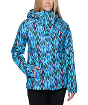 Burton Girls Method Blue Print 10K Snowboard Jacket 2014