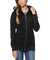 Burton Girls Minx Black Tech Fleece Jacket