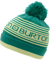 Burton Girls Trope Green & Yellow Pom Beanie