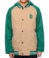 Burton Haze Green 10K Varsity Snowboard Jacket