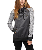 Burton Heron Black & Grey Tech Fleece Hoodie