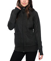 Burton Journey Black Heather Tech Fleece Jacket