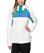 Burton Method White 10K Girls 2014 Snowboard Jacket