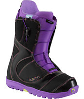Burton Mint Black & Purple 2014 Girls Snowboard Boots
