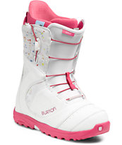 Burton Mint White & Pink Women's Snowboard Boots