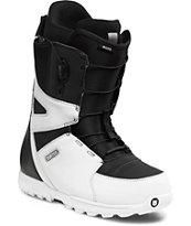 Burton Moto White & Black Snowboard Boots