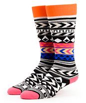 Burton Party Black & White Stripe Girls Snowboard Socks