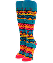 Burton Party Geo Fair Snowboard Socks