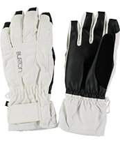 Burton Profile Women's White Under Gloves