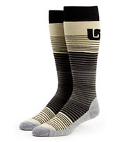 Burton Scout True Black Striped Girls Snowboard Socks