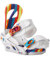 Burton Scribe ReFlex White 2014 Girls Snowboard Bindings