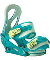 Burton Stiletto ReFlex Teal Women's Snowboard Bindings