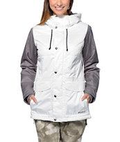 Burton TWC Snuggle Muffin White 10K Girls 2014 Snowboard Jacket