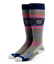Burton Ultralight Wool Girls Grey Snowboard Socks