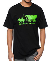 Cake Face Blazing Trails Black Tee Shirt