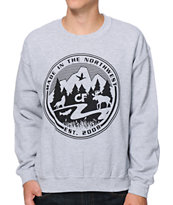 Cake Face Made In The Northwest Grey Crew Neck Sweatshirt