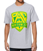 Cake Face OR Pac NW Crest Grey Tee Shirt