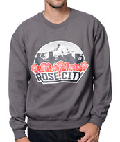 Cake Face Rose City Grey Crew Neck Sweatshirt