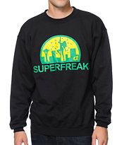 Cake Face Superfreak Black Crew Neck Sweatshirt