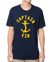 Captain Fin Bold Anchor Navy Tee Shirt