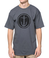 Captain Fin Circle Anchor Charcoal Tee Shirt