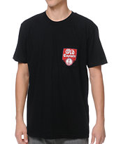 Captain Fin Co. Old Captain Black Pocket Tee Shirt