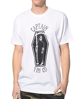 Captain Fin Grim Skate White Tee Shirt