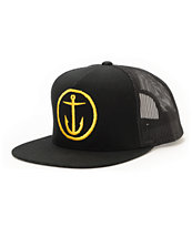 Captain Fin OG Anchor Black Trucker Hat
