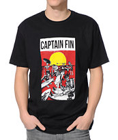 Captain Fin Surf Donkey Black Tee Shirt