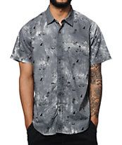 Captain Fin Tie Dye Shred Button Up Shirt