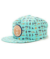 Captain Fin Tropic Shred Strapback Hat