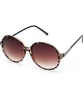 Castle Tortoise Large Round Sunglasses
