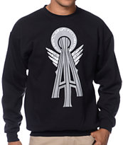 Casual Industrees Alpha SN Elephant Black Crew Neck Sweatshirt