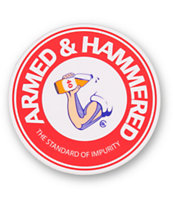 Casual Industrees Armed & Hammered Sticker
