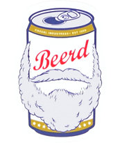 Casual Industrees Beerd Sticker