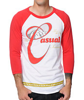 Casual Industrees Bring Back Rainier White & Red Baseball Shirt