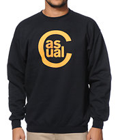Casual Industrees C Logo Wood Black Crew Neck Sweatshirt