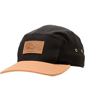 Casual Industrees C Mountain Black & Tan 5 Panel Hat