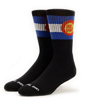 Casual Industrees CO Flag Black Crew Socks