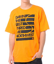 Casual Industrees Damn The Rest Orange Tee Shirt